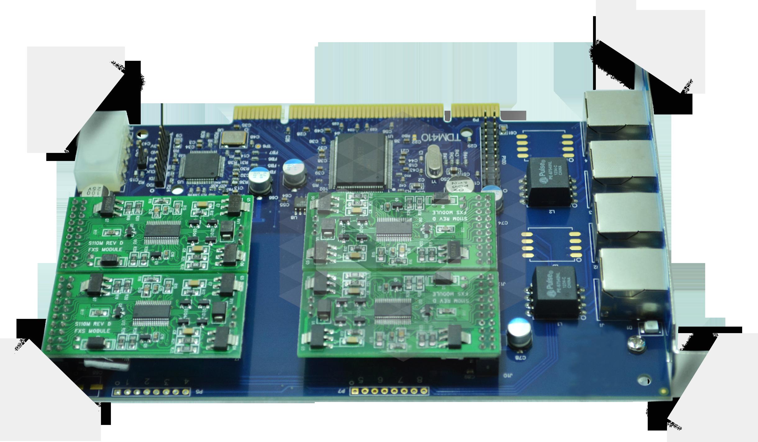 TDM410P-4-portas-FXS