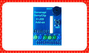 Banana-Pi-BerryClip-6Led-Add-on-Board