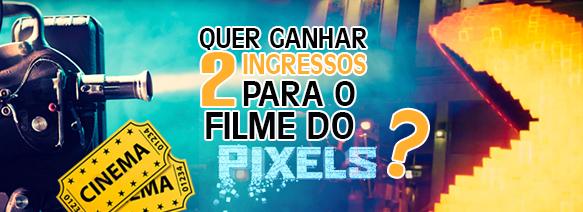 Quer ganhar dois ingressos para o filme do Pixels?