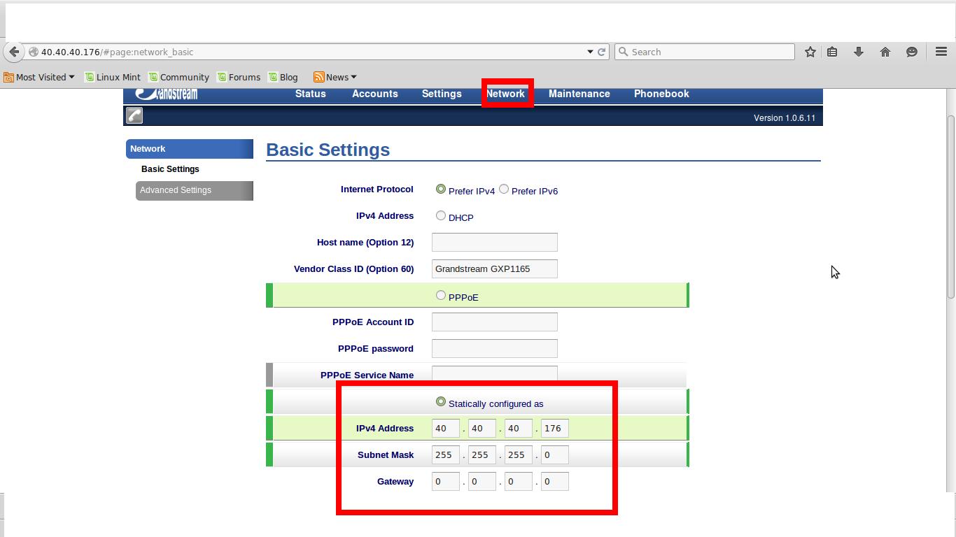 Configurar Ponto a Ponto entre dois Telefones GXP 1165