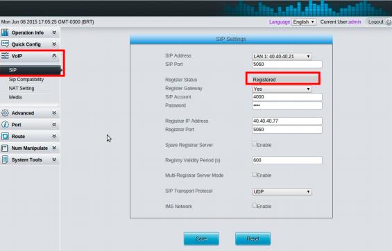 Como Configurar Gateway Synway SMG 1000 FXO e FXS